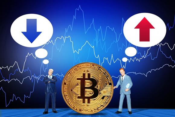 仮想通貨の変動イメージ画像